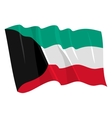 Political waving flag of kuwait vector | Price: 1 Credit (USD $1)