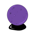 purple crystal ball for predictions vector image