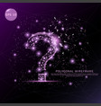 question mark digitally drawn futuristic low poly vector image