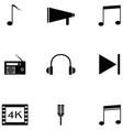 radio icon set vector image vector image