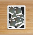 realistic tablet with picture frames vector image vector image