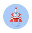 rocket flat icon rocket icon d vector image vector image