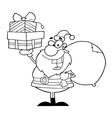 Royalty Free RF Clipart Santa Holding Up A Stack vector image vector image