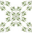 seamless pattern of green cartoon leaves and twigs vector image vector image