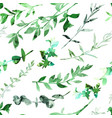seamless pattern with abstract branches and leaves vector image vector image