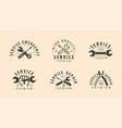 service symbol or logo repair work maintenance vector image