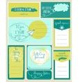 set journaling card and logotypes vector image vector image