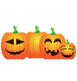 set of jack-o-lanterns vector image