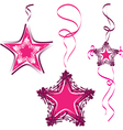star decoration abstract star vector image vector image