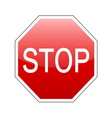 stop sign red vector image vector image