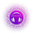 stylized headphones vector image vector image