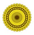sunflower gardening logo symbol icon flat style vector image vector image