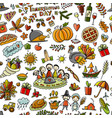 thanksgiving day seamless pattern for your design vector image