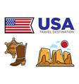 usa america culture and american travel toursit vector image vector image