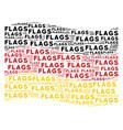 waving german flag pattern of flags word items vector image