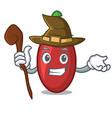 witch goji berries mascot cartoon vector image vector image