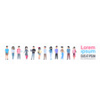 young asian men and women icons set chinese vector image vector image