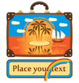 Travel suitcase with sea vector image