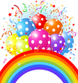 14balloons rainbow001 vector image vector image