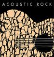 acoustic rock vector image vector image