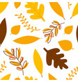 autumn leaves different trees seamless pattern vector image vector image