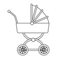 baby carriage wheel decoration outline vector image vector image