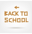 Back to school Text made from wooden boards for vector image vector image