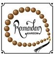 beads ramadan kareemlettering vector image