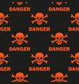 black background warns of mortal danger vector image vector image