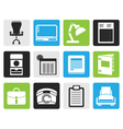 Black Simple Business office and firm icons vector image vector image