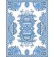 blue colour ukrainian floral carpet design for vector image
