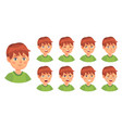 boy emotions set happy cry and angry vector image