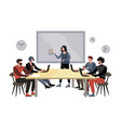 briefing meeting in company vector image vector image