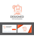 business logo template for shopping online vector image