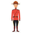 canadian policeman cartoon vector image
