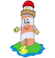 cartoon lighthouse vector image