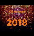 christmas 2018 disco wall with text vector image vector image