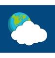 Cloud computing techonlogy vector image