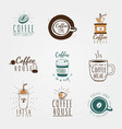 coffee beverage logo set design vector image vector image