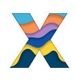 colorful letter x vector image vector image
