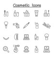 cosmetic icons set in thin line style vector image vector image