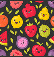 cute smiling fruits seamless pattern on vector image vector image