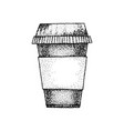 dotwork coffee cup vector image vector image