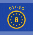dsgvo regulation vector image