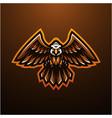 eagle mascot logo design vector image