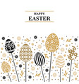 easter card with decorative card on sticks vector image vector image