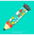 Education icon in shape of Pencil vector image vector image