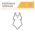female swimwear editable stroke line icon vector image