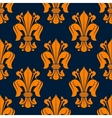 Fleur-de-lis seamless pattern with orange lilies vector image vector image