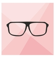Glasses on pink background vector image vector image